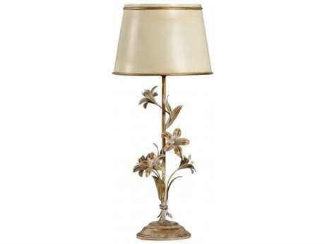 Chelsea House Lily Beige and Gold Buffet Lamp