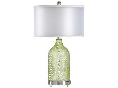 Chelsea House Hendersonville Pea Green with Brushed Nickel Buffet Lamp