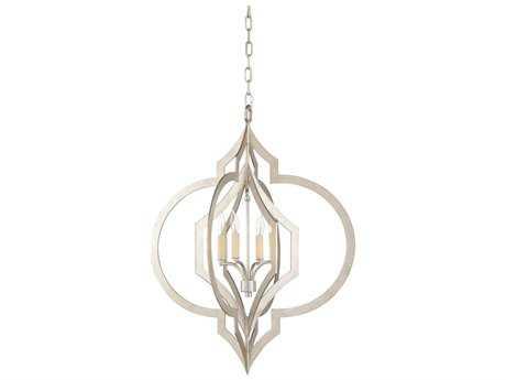 Chelsea House Virgina Antique Silver Leaf Four-Lights 25'' Wide Chandelier
