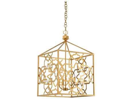 Chelsea House Agadir Antique Gold Leaf Three-Lights 18''Wide Chandelier