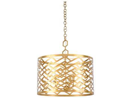 Chelsea House Tamormina Antique Gold Leaf Three-Lights 23'' Wide Mini Chandelier