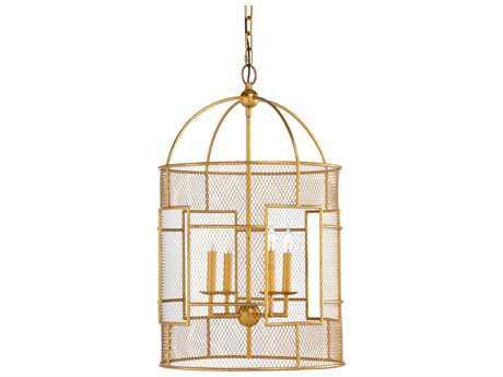 Chelsea House Anderson Antique Gold Leaf Four-Lights 18''Wide Chandelier