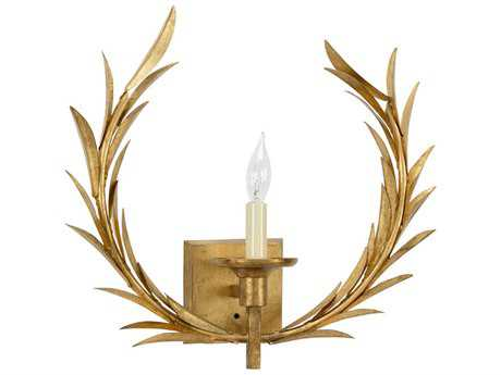Chelsea House Wheat Antique Gold Leaf Wall Sconce