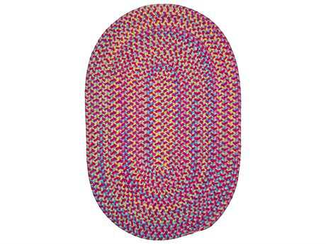 Colonial Mills Botanical Isle Magenta Oval / Round Area Rug