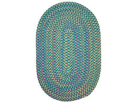 Colonial Mills Botanical Isle Teal Oval / Round Area Rug