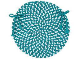 Colonial Mills Blokburst Teal 15''x15'' Round Chair Pad