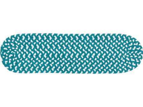 Colonial Mills Blokburst Teal 8''x28'' Oval Stair Tread