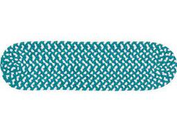 Colonial Mills Blokburst Teal 13-Piece 8''x28'' Oval Stair Tread Set