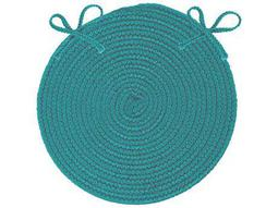 Colonial Mills Boca Raton Teal Four-Piece 15''X15'' Round Chair Pad Set