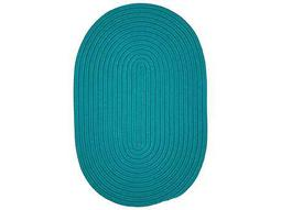 Colonial Mills Boca Raton Teal Oval / Round Area Rug