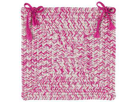 Colonial Mills Catalina Magenta Four-Piece 15''X15'' Round Chair Pad Set