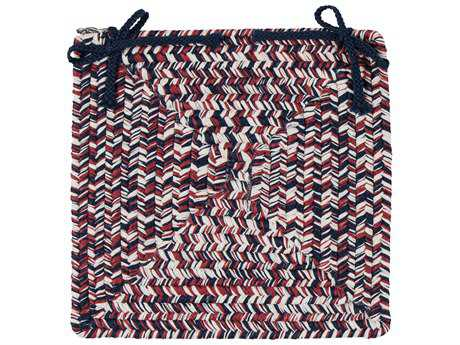 Colonial Mills Corsica Patriotic 15''x15'' Square Chair Pad