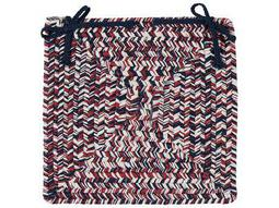 Colonial Mills Corsica Patriotic 15''x15'' Square Chair Pad