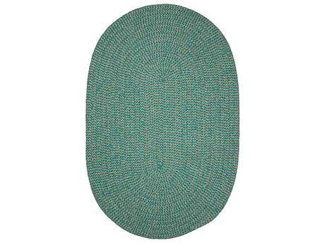 Colonial Mills Softex Check Teal Check Oval / Round Area Rug