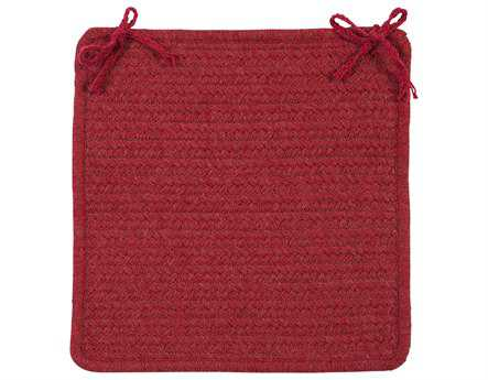 Colonial Mills Courtyard Red Chair Pad (Set of 4)