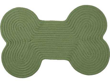 Colonial Mills Dog Bone Solid Moss Green 18''x30'' Dog Bone Area Rug CIH123RGDGB