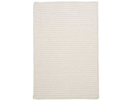Colonial Mills Simply Home Solid Rectangular White Area Rug
