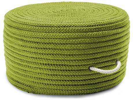 Colonial Mills Simply Home Solid Bright Green 20''x20''x11'' Round Pouf CIH271PFROU