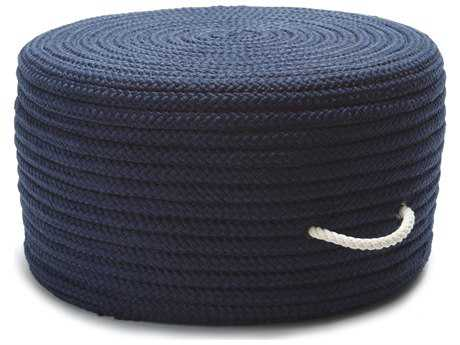 Colonial Mills Simply Home Solid Navy 20''x20''x11'' Round Pouf