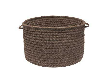 Colonial Mills Natural Wool Houndstooth Cocoa Utility Basket