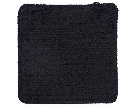 Colonial Mills Simple Chenille Black Chair Pad (Set of 4)