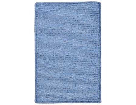 Colonial Mills Simple Chenille Rectangular Petal Blue Area Rug