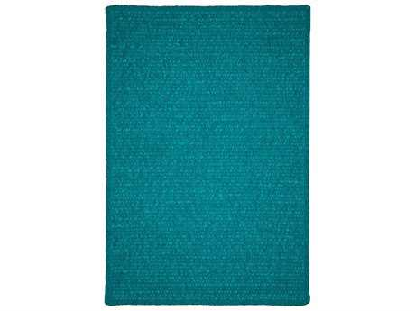 Colonial Mills Simple Chenille Teal Rectangular / Square Area Rug