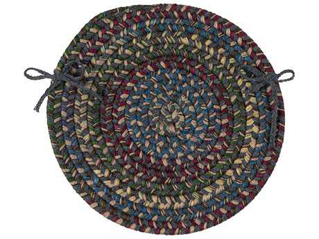 Colonial Mills Midnight Charcoal 15''x15'' Round Chair Pad