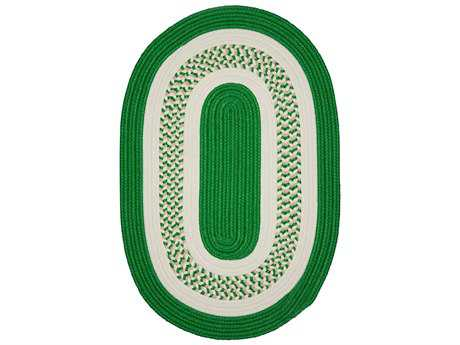 Colonial Mills Crescent Leaf Green Oval / Round Area Rug