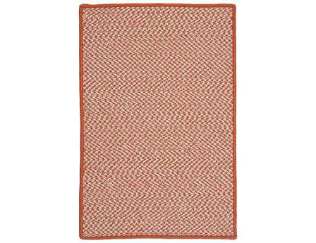 Colonial Mills Outdoor Houndstooth Tweed Rectangular Orange Area Rug