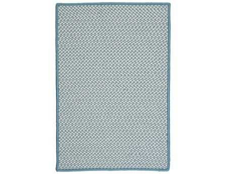 Colonial Mills Outdoor Houndstooth Tweed Rectangular Sea Blue Area Rug