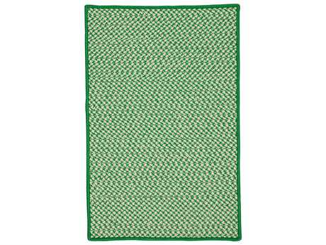Colonial Mills Outdoor Houndstooth Tweed Grass Rectangular / Square Area Rug
