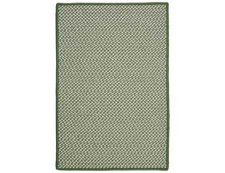 Colonial Mills Outdoor Houndstooth Tweed Rectangular Leaf Green Area Rug
