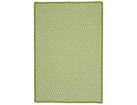 Colonial Mills Outdoor Houndstooth Tweed Rectangular Lime Area Rug