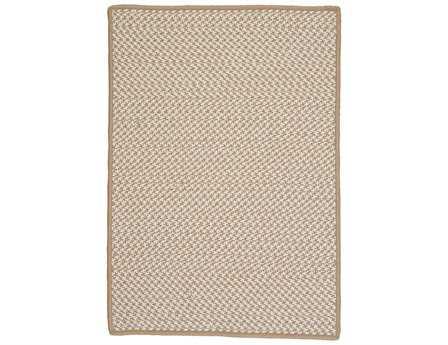 Colonial Mills Outdoor Houndstooth Tweed Rectangular Cuban Sand Area Rug