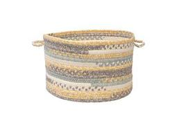 Colonial Mills Print Party Shaded Yellow Utility Basket