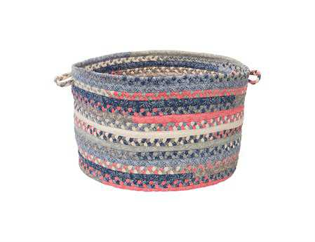 Colonial Mills Print Party Crushed Coral Utility Basket