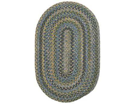 Colonial Mills Rustica Oval Whipple Blue Area Rug CIRU50RGROU