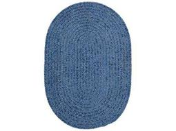 Colonial Mills Spring Meadow Oval Petal Blue Area Rug