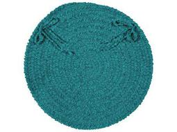 Colonial Mills Spring Meadow Teal Four-Piece 15''X15'' Round Chair Pad Set