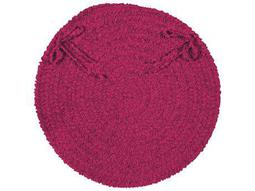 Colonial Mills Spring Meadow Magenta Four-Piece 15''X15'' Round Chair Pad Set