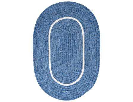 Colonial Mills Silhouette Oval Blue Ice Area Rug
