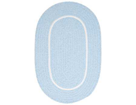 Colonial Mills Silhouette Oval Sky Blue Area Rug