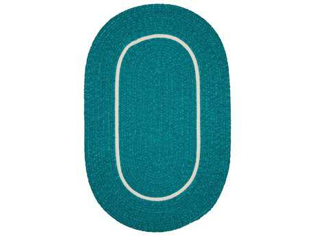 Colonial Mills Silhouette Teal Oval / Round Area Rug