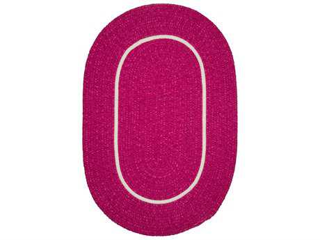 Colonial Mills Silhouette Magenta Oval / Round Area Rug