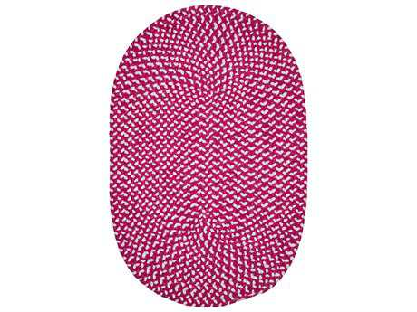 Colonial Mills Confetti Magenta Oval / Round Area Rug