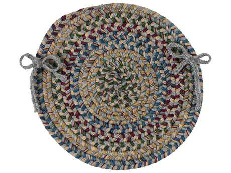 Colonial Mills Twilight Gray 15''x15'' Round Chair Pad