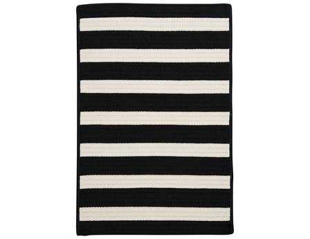Colonial Mills Stripe It Rectangular Black White Area Rug