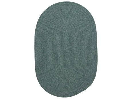 Colonial Mills Bristol Teal Oval Area Rug