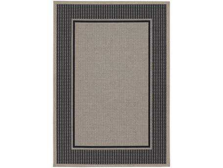 Couristan Tides Astoria Rectangular Black & Grey Area Rug